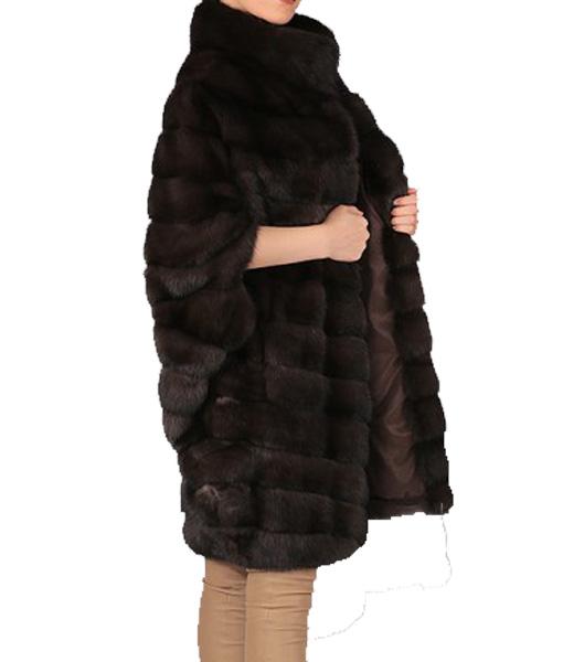 Sable Coat Dark Brown