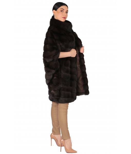 Sable Coat Dark Brown