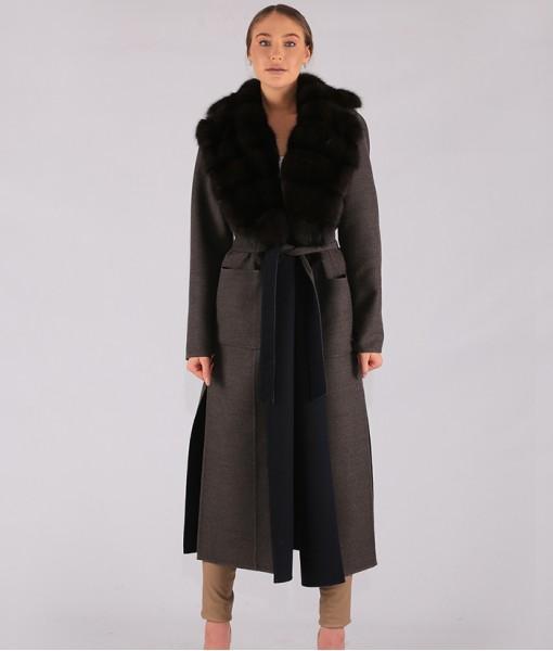 Luxury Cashmere Coat Grey