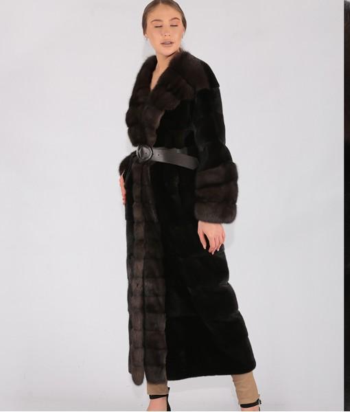 Black Glama Mink Coat