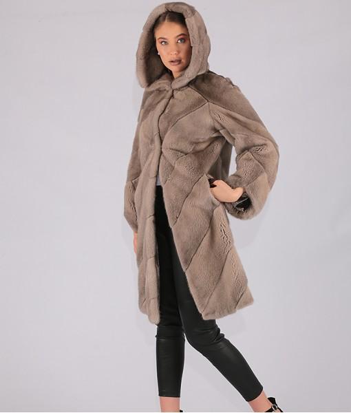 Mink Coat With Hood