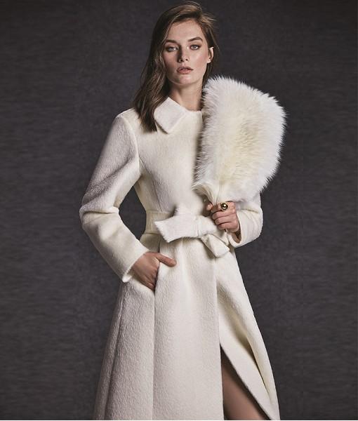 Cashmere Coat Off White