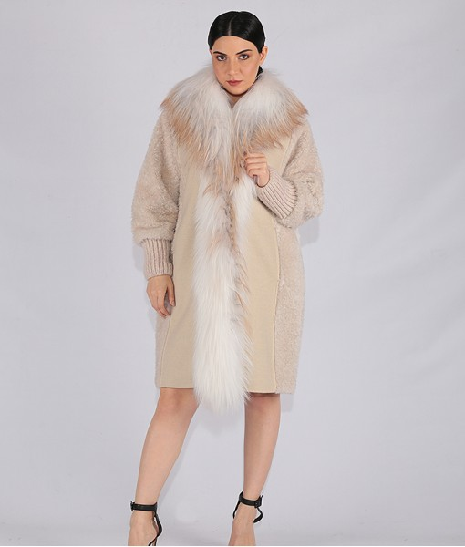 Luxury Cashmere Coat And Lambskin Shearling