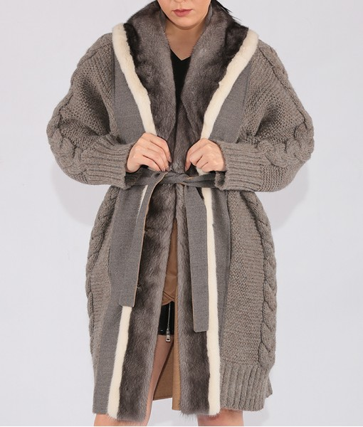 Shearling And Luxury Cashmere Coat