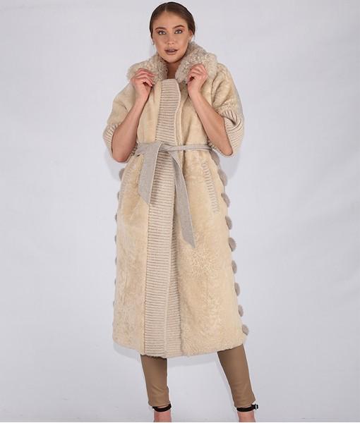 Lambskin Shearling Long Coat