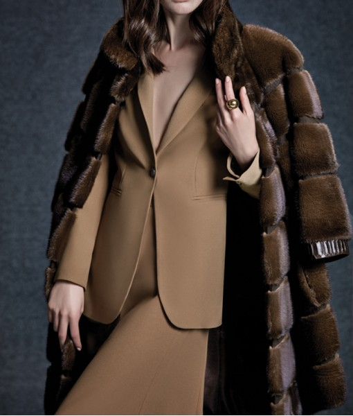 Mink Coat Dark Brown