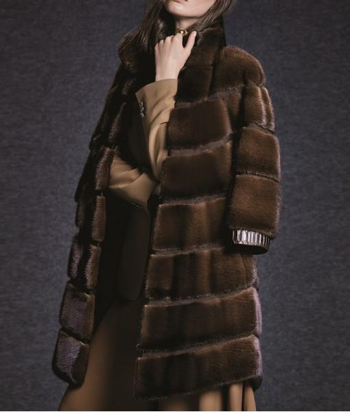 Mink Coat Dark Brown