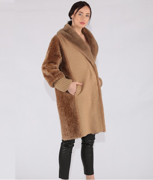Luxury Cashmere Front Open Coat
