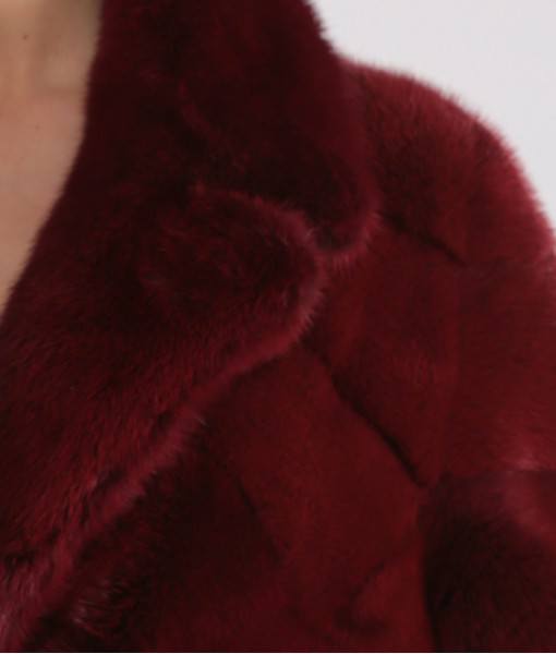 Red Dyed Mink Coat