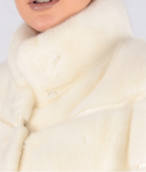 Mink Coat Off White