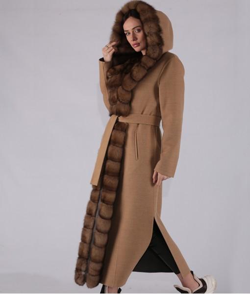 Luxury Cashmere Hooded Coat