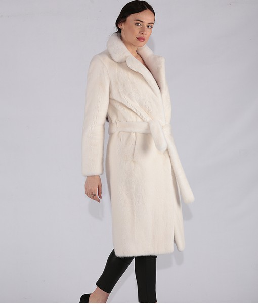 Mink Coat Off White