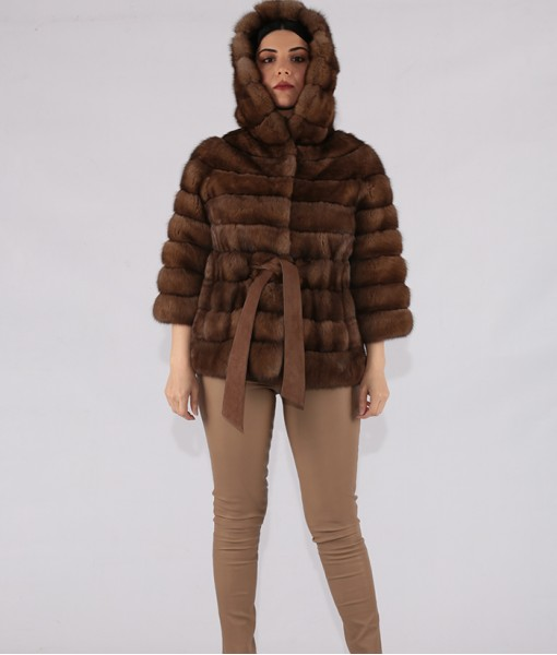 Sable Hooded Jacket