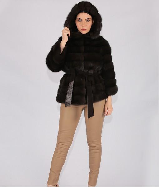 Sable Jacket Dark Brown